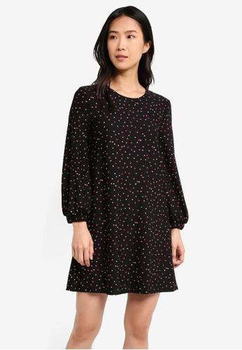 Mango black Flowy Printed Dress MA193AA0T1JKMY_1