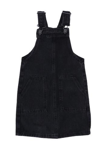 FOX Kids & Baby black Black Denim Long Pinafore Dress 4DB6FKA4A80FD1GS_1