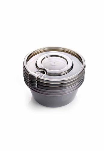 Slique grey Premium 3pcs Round Food Crisper Set 600ml 01EB4HLDB8332EGS_1