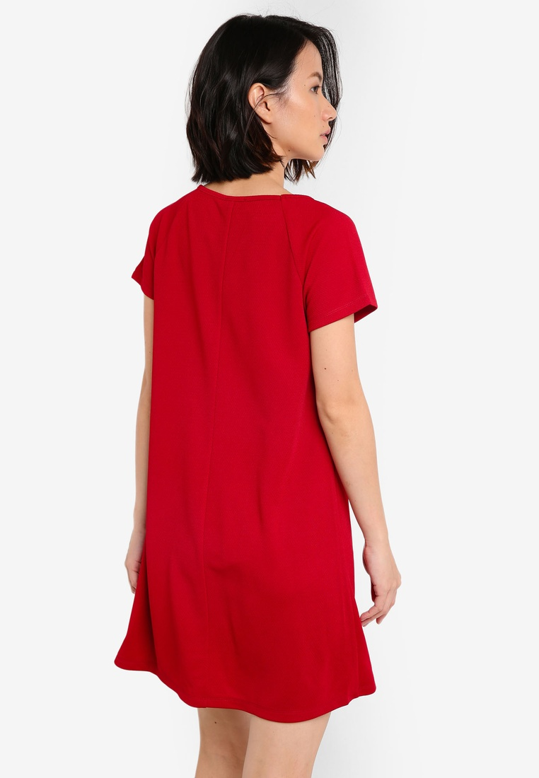 Navy Raglan Dress Essential ZALORA BASICS 2 Maroon Shift Sleeve pack 8wqPEBp