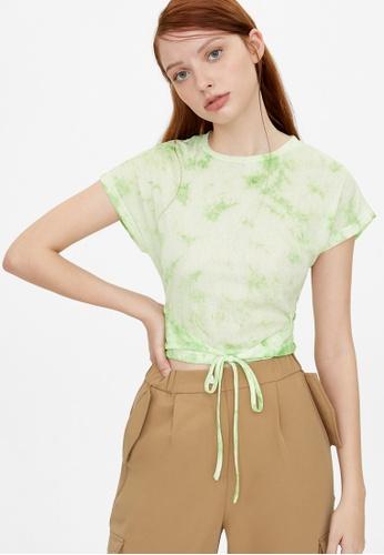 Pomelo green Loose Tie Dye Tee - Green 652ADAAE708F90GS_1