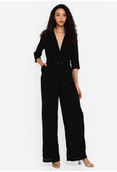 7f6559c9961 MISSGUIDED black Wide Leg Blazer Style Jumpsuit 566C1AAB4A5184GS_1