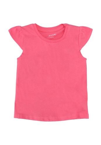 FOX Kids & Baby pink Cap Sleeves Tee D2965KACC23863GS_1