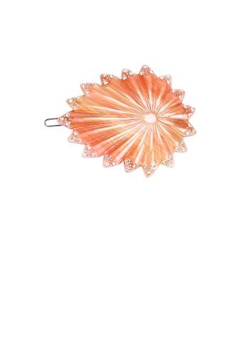 Glamorousky white Fashion High-end Orange Geometric Cubic Zirconia Hair Slide 3FA8CAC7A95E50GS_1