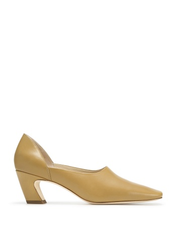 RABEANCO 黃色 RABEANCO NUI 中跟方頭鞋 - 平滑芥未黃色 B64F1SHDAD5C91GS_1
