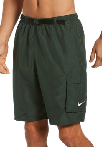 """Nike green Nike Swim Men's Belted Packable 9"""" Volley Short 532C1USF272457GS_1"""