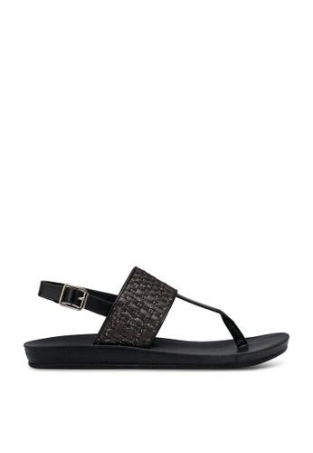 NOVENI 黑色 Strappy 涼鞋 3AF7BSHD6F3599GS_1