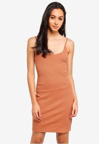 Supre brown Rib Cami Dress AFD29AA0B6BADBGS_1