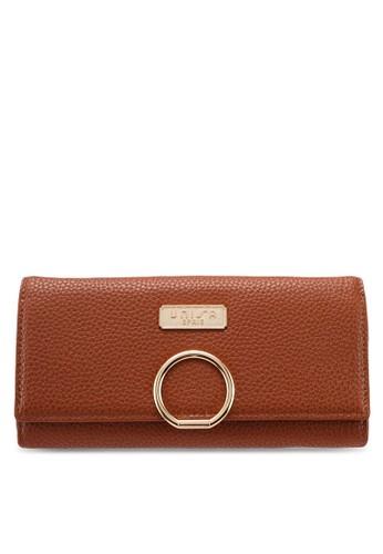 Unisa brown Pebbled Texture Bi-Fold Ladies Wallet 466A6AC573BB8BGS_1