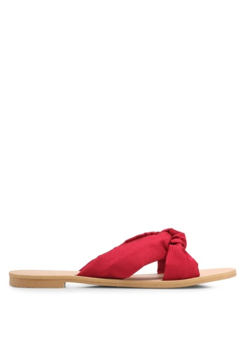 ZALORA red Soft Crossover Slip-ons 7B75BSH7CF2867GS_1