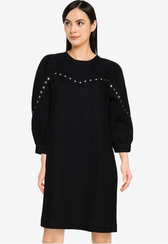 Noisy May black Simone Stud Dress B09EDAA7A7713FGS_1
