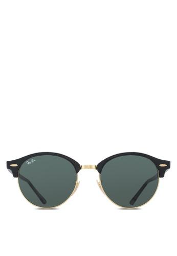 Ray-Ban black Clubround RB4246 Sunglasses RA896GL68MDBMY_1