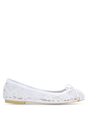 Velvet white Lace Ballerinas 12175SH5ED0D89GS_1