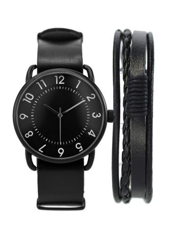 LEUPP black Imako Watch And Bracelet Pack 427DFAC70285BDGS_1