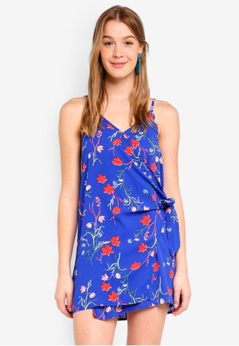 Cotton On blue Woven Margot Wrap Slip Dress C2D8CAA9962650GS_1