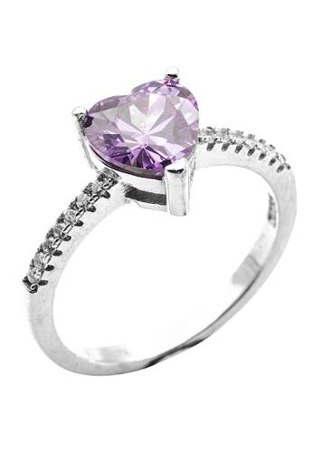 Elfi purple Elfi 925 Sterling Silver Engagement Wedding Fashion Ladies Ring P3 A44DEACE2CF85BGS_1