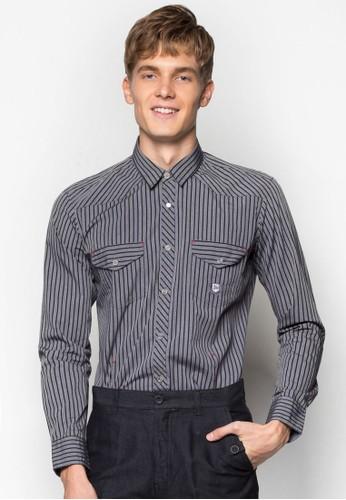 條紋長袖襯衫, 服飾, esprit台灣outlet襯衫