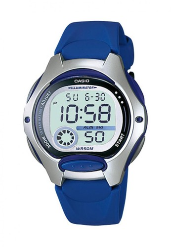 Casio blue Casio Digital Jam Tangan Wanita - Biru Tua - Strap Karet - LW-
