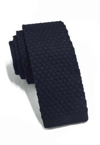 Splice Cufflinks Interlace Series Navy Blue Knitted Tie SP744AC89KTESG_1
