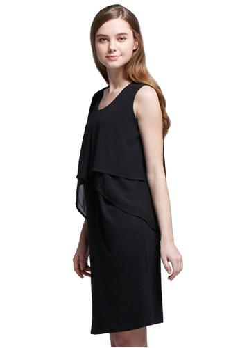 297cf2c951b Mamaway black Chiffon Layers Sleeveless Maternity & Nursing Dress  FC0FEAA54DBF36GS_1
