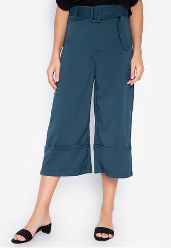 ZALORA green Wide Leg Pants AC210AA39DCDE6GS_1