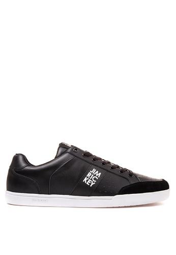 Jim Rickey black Court Lo Sneakers JI829SH42PORPH_1