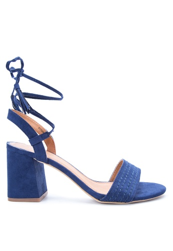 Rubi blue Anglesea Lace Up Heels RU506SH14OCBMY_1