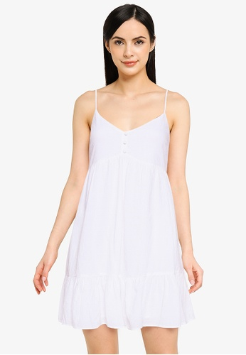Abercrombie & Fitch white Resort Babydoll Short Dress 6FE11AAAD03DC0GS_1