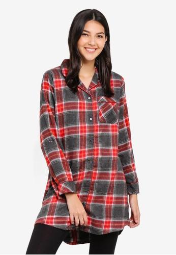 98bd77cd76 Buy Dorothy Perkins Red Check Nightshirt Online on ZALORA Singapore