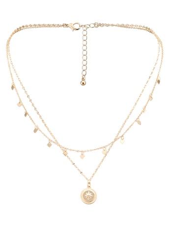 Pieces gold Flombat Combi Necklace E9060ACA104111GS_1