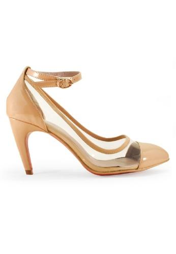 Gripz beige Vis Pointed Transparent PVC Ankle Heels GR357SH96IRJSG_1