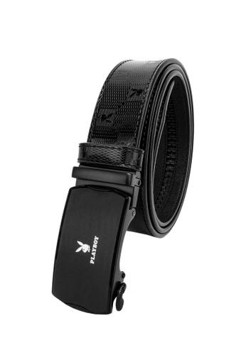 Playboy black 35mm Automatic Belt A8607AC660CFCCGS_1