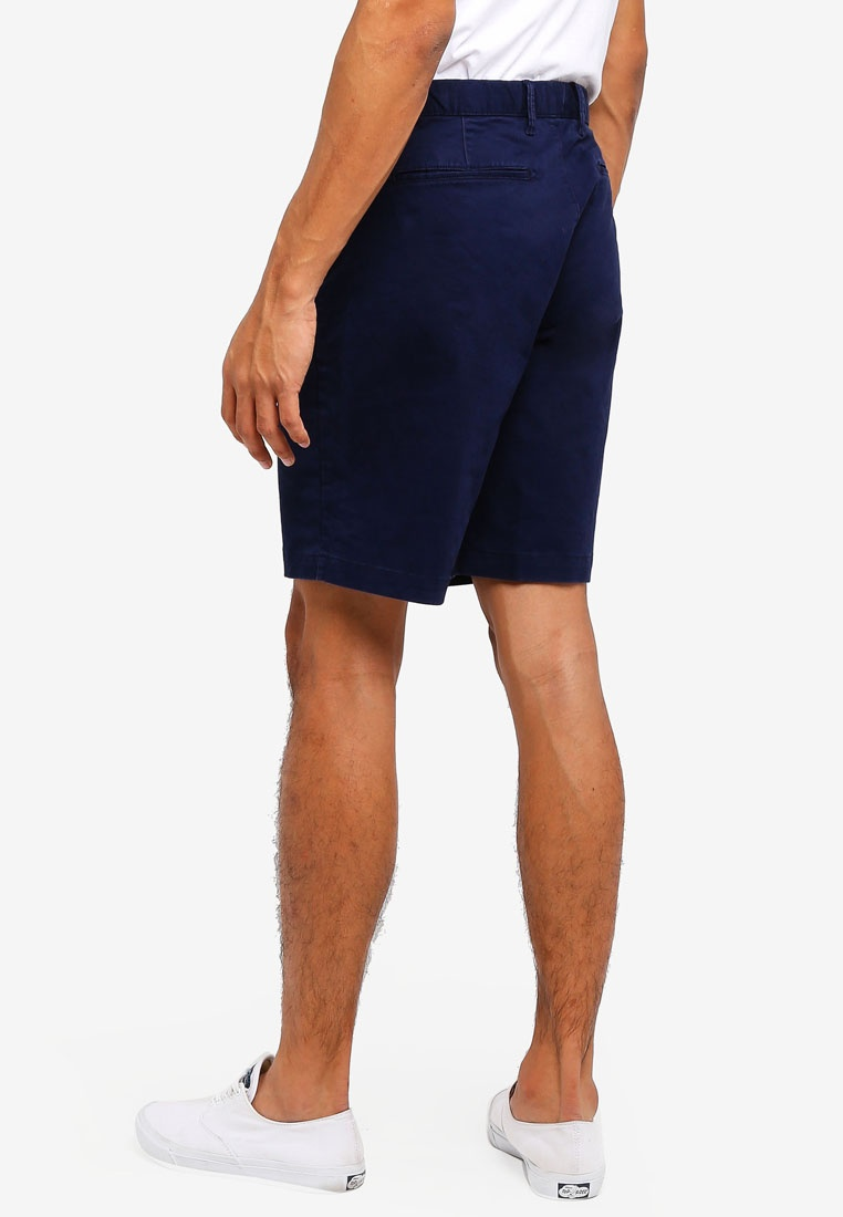 Navy Tapestry Washwell Shorts 10