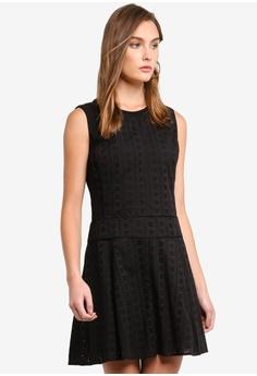 71f1ef1f9c7 DKNY black Sleeveless Crew Neck Flare Dress 19519AA1198532GS 1