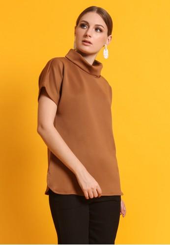 Naivee brown Naivee - Safira Top Brown Blouse 25683AA854427CGS_1