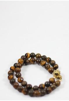 Prexyte Tiger's Eye and Bronzite Women's Bracelet