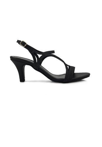 SHINE black Slingback Strapy Heels SH554SH0FVE6SG_1