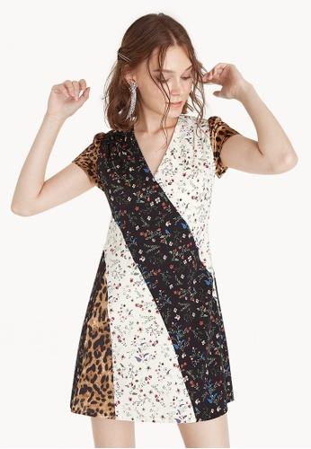Pomelo multi Mini Mixed Print Dress 573FEAA15EB4FEGS_1