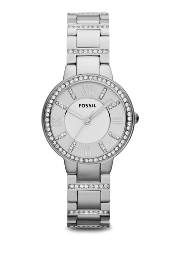Fossil silver Silver Steel/Silver Virginia Three Hand Stainless Steel Watch ES3282 FO164AC46ZQZMY_1