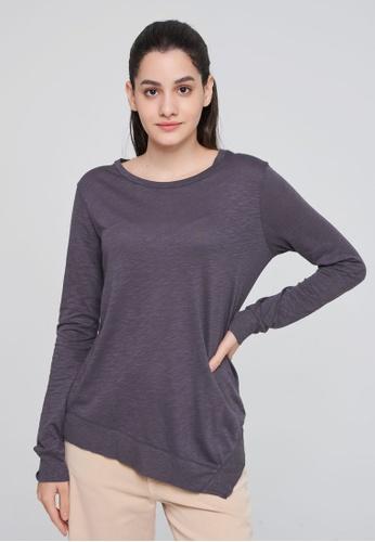 Sisley grey Long Sleeve T-shirt E7018AA332ADD8GS_1