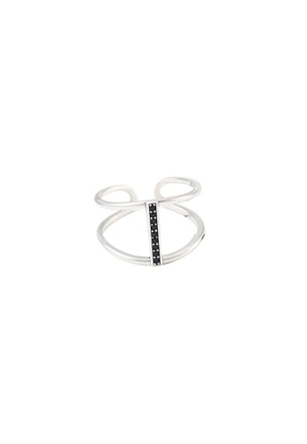 OrBeing 白色 Premium S925 Sliver Geometric Ring 0945BAC8522B9CGS_1