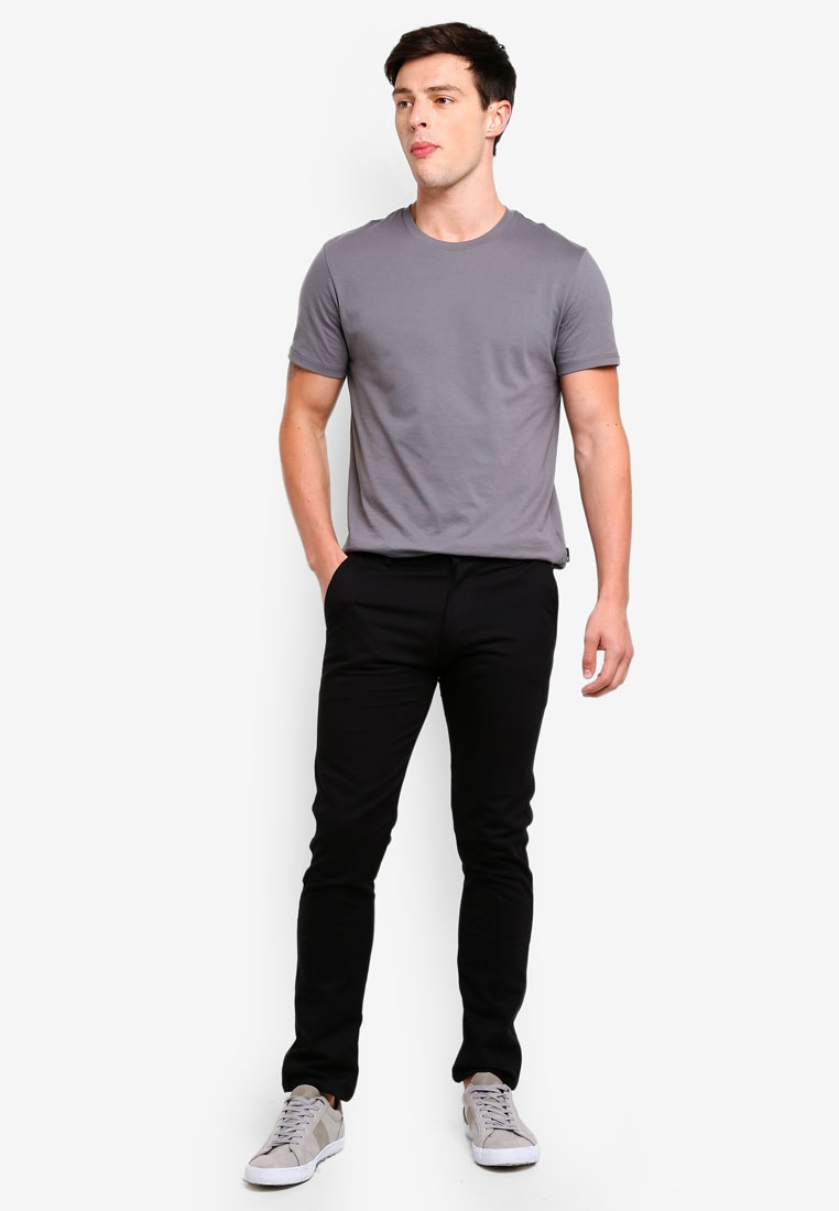 Straight Black Chinos Slim Fidelio 430 wTPvqxR55