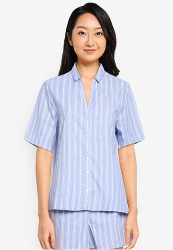 GAP blue Poplin Short Sleeve Top 1F174AA2F45B2AGS_1