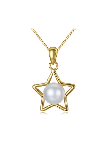 SUNRAIS gold Premium colored stone gold simple design necklace 2EB43ACFD0A288GS_1