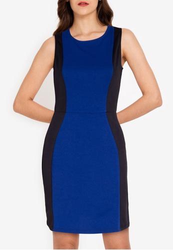 ZALORA WORK multi Colorblock Sleeveless Dress 5222AAA52E3496GS_1