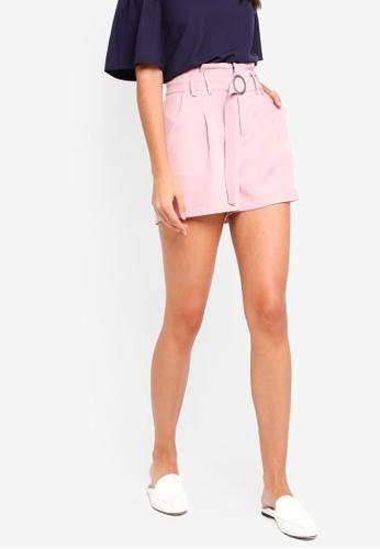 ZALORA pink Flare Shorts EBF71AA2B4D9CFGS_1