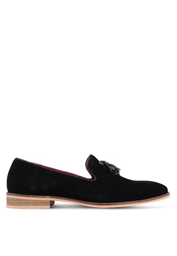 Acuto black Leather Tassel Loafers 59DC9SH50BBE83GS_1