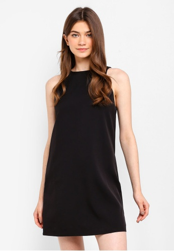 Something Borrowed black Sleeveless Shift Dress 25639AA17DE998GS_1