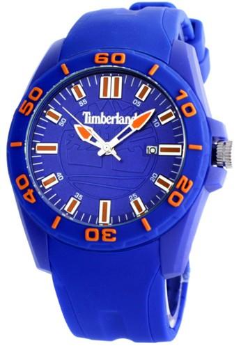 Timberland Jam Tangan Pria Sport - Biru Orange - Rubber - TBL14442JPBL/03PA