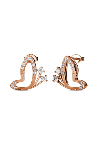 Her Jewellery 金色 Her Jewellery Butterfly Wings Earrings (Rose Gold) with Premium Grade Crystals from Austria镶嵌施华洛世奇水晶 42786AC095096CGS_1